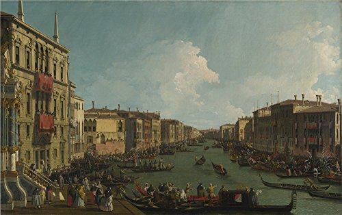 [Oil Painting 'Canaletto - Venice - A Regatta On The Grand Canal,about 1735' 18 x 29 inch / 46 x 73 cm , on High Definition HD canvas prints is for Gifts And Bed Room, Home Office And Living Ro] (Im The Pope Costume)