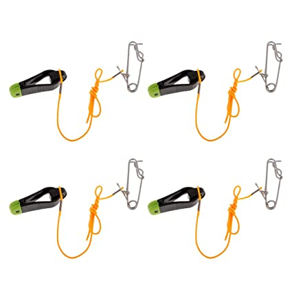 4pcs Power Grip Plus Downrigger Line Release Stacker Clips with 42cm Leader