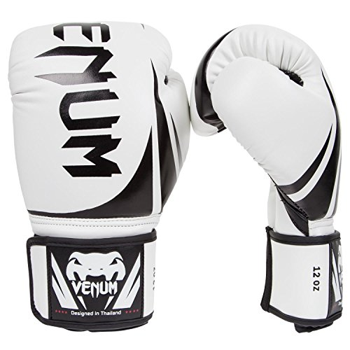 Venum Challenger 2.0 Boxing Gloves, White, 16-Ounce