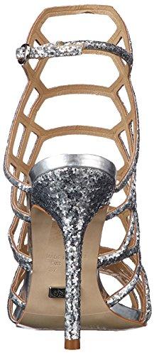 Brilho Prata 0 Silver Pu Hexa 15 Strap Sandals Ankle Women's Zs 5164 Buffalo 01 qaFXPHF