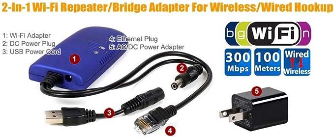 Inalámbrica Wi-Fi a Puerto Ethernet convertidor de video juego y Smart TV ordenador impresora: Amazon.es: Electrónica