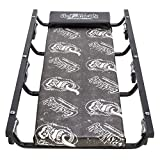 Gas Monkey Mechanic Creeper with Headrest - Vinyl Cushion and 6 Rolling Casters - 350 Lbs Capacity
