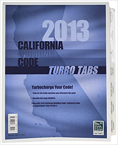 Turbo Tabs: 2013 California Building Code, Title 24 Part 2