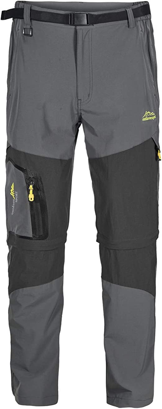 Vcansion Mens Hiking Outdoor Quick Dry Lightweight Convertible Zip Off Work Climbing Mountian Pants