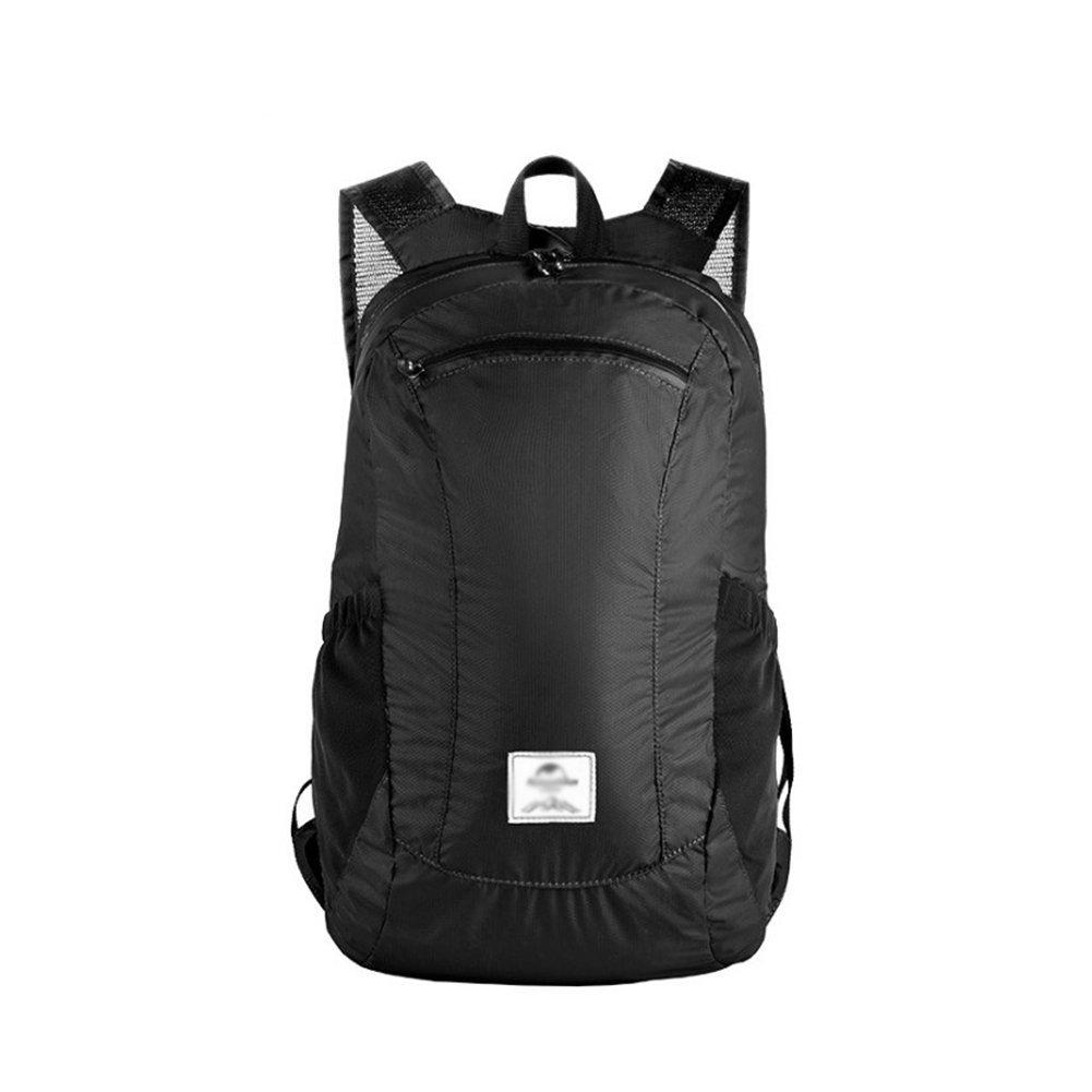taleah Strange Ultralight Foldable Waterproof Backpack Outdoor Daypack for Men Women Hiking Travel Climbing Black