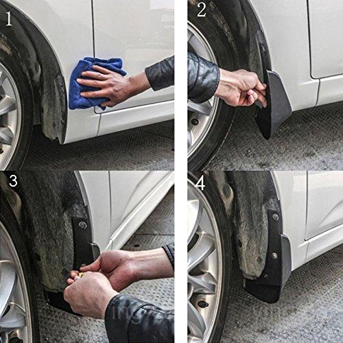4Pcs Car the fender Mud Flap Splash Guard Fender Mudguard Mudflap For VW Passat 2011-2018