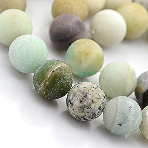 Natural Amazonite Round Beads - 9
