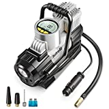 AstroAI Portable Air Compressor Pump 150 PSI, Tire Inflator Gauge for Car, Silver