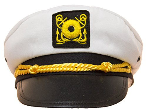 Child Yacht Captain Hat Ship Navy Officer Sea Skipper Cap Costume Accessory Adjustable -