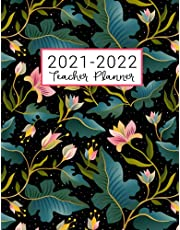 Teacher Planner: Lesson Plan for Class Organization   Weekly and Monthly Agenda   Academic Year August - July   Pink Floral Print