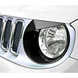 IPARTS Glossy Black Angry Bird Headlight Bezels Cover Tim Accessories for 2015 - 2017 Jeep Renegade