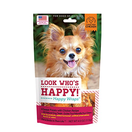 Look Who's Happy Products Happy Wraps Sweet Potato with Chicken Recipe Net Wt 4.0oz (Chicken Wraps)