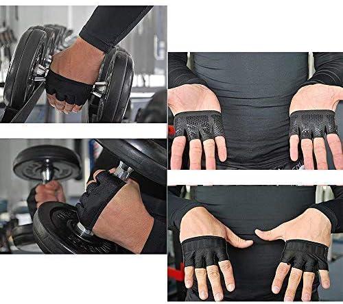 Hootracker 2 Pairs Fitness Guantes Guantes Deportivos Gimnasio Guantes Medio Dedo Respirable del Levantamiento de Pesas con Mancuernas Fitness Gimnasio para Entrenamiento Peso