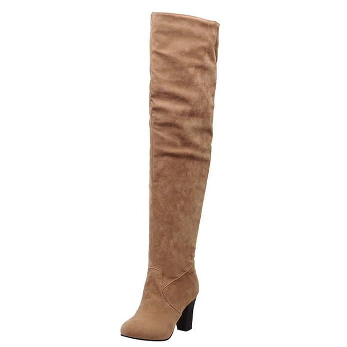 Chaussures Bottes Fermeture Half Femmes Eclair Taoffen qv5wx7XRf