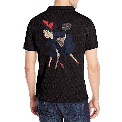Men's Kiki's Delivery Service POLO Shirt Black