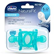 Chicco Pacifier Soft Silicone, Blue, 6-12 Months Plus