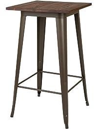 glitzhome metal bar table