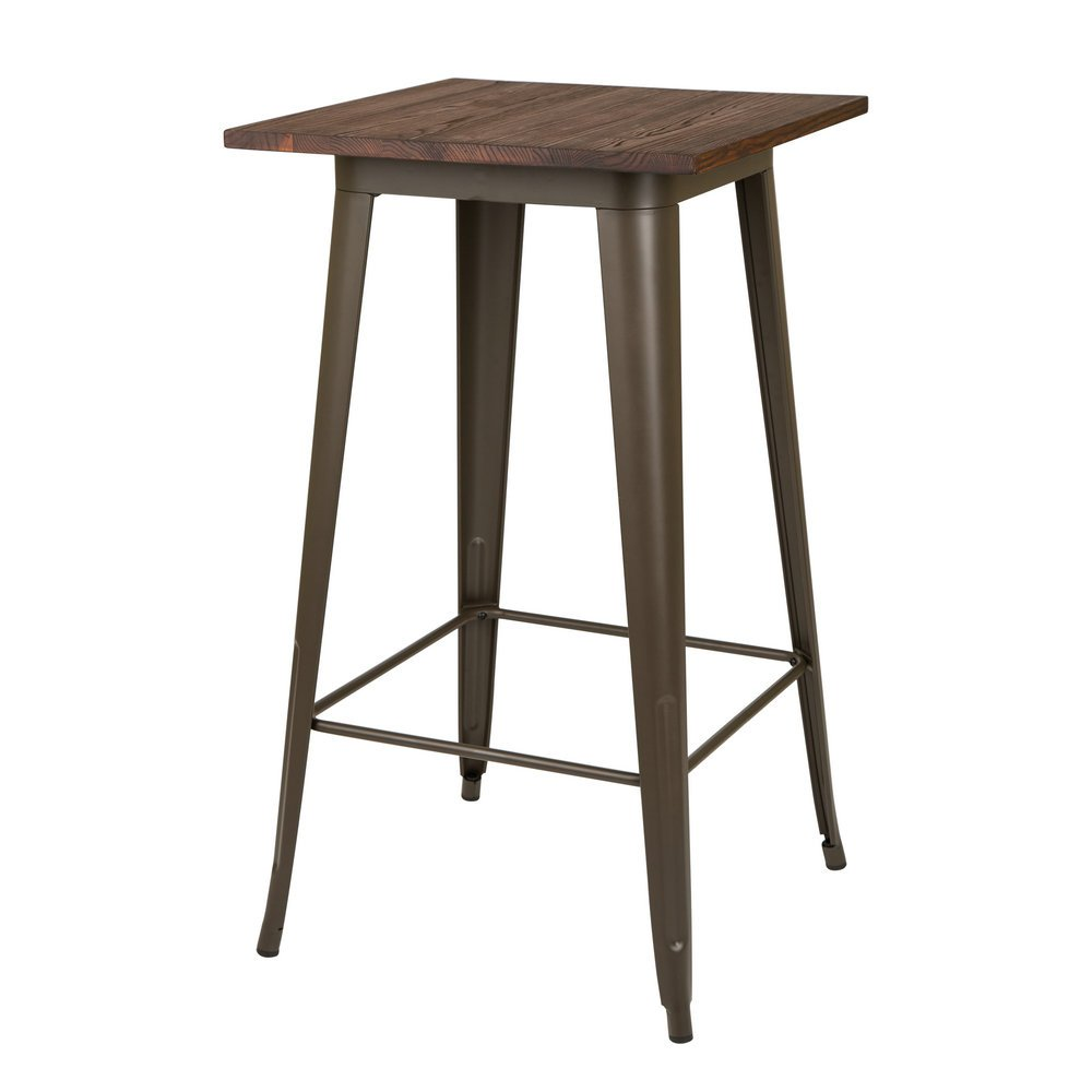 Glitzhome Metal Bar Table Bistro Pub Sturdy Frame Pub Table