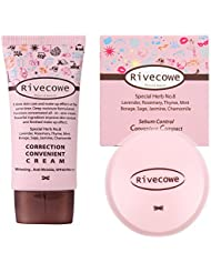 [ Rivecowe ] Correction Convenient (CC) Cream 1.35 Fl.Oz + Sebum Control Convenient (CC) Compact 0.31Oz 1 set