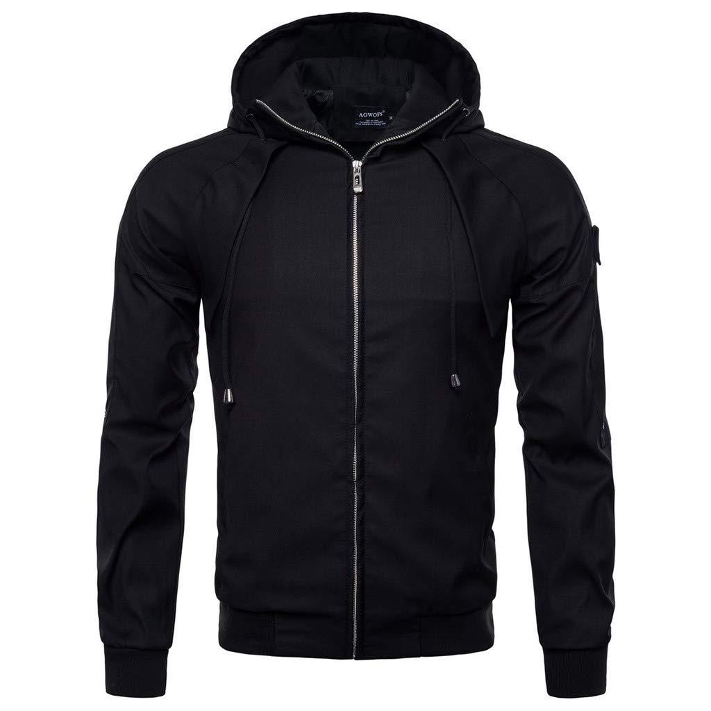 Simayixx Men's Jacket Men's Mountain Waterproof Ski Coats Windproof Rain Hoodie Sweatshirts Workout Zipper Tops Shirts 2XL Black by Simayixx (Image #8)