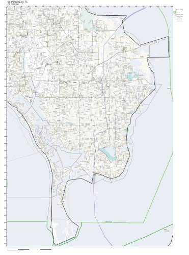 Saint Petersburg Fl Zip Code Map.Amazon Com Zip Code Wall Map Of St Petersburg Fl Zip Code Map