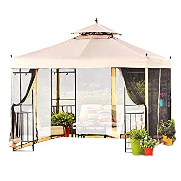 Gazebo Walmart Simple Garden Winds Replacement Canopy For