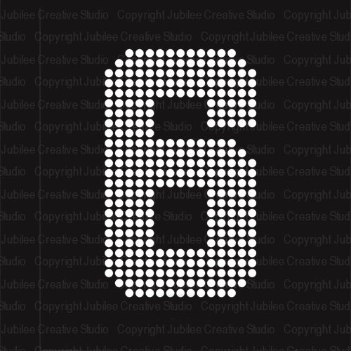 large iron on numbers - 7
