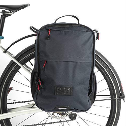 Two Wheel Gear - Pannier Backpack Plus+ (Large) - 2 in 1 - Bike Commuting and Travel Bag (Waxed Canvas - Overcast Blue)