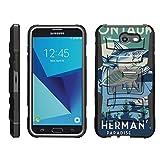 TurtleArmor   Compatible for Samsung Galaxy J7 2017 Case   J7 Prime   J7 Sky Pro [Hyper Shock] Hybrid Dual Layer Armor Holster Belt Clip Case Kickstand - Lake Fishing
