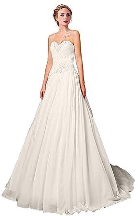 Versilu Lace Wedding Dress Sweetheart A Line Long Tulle