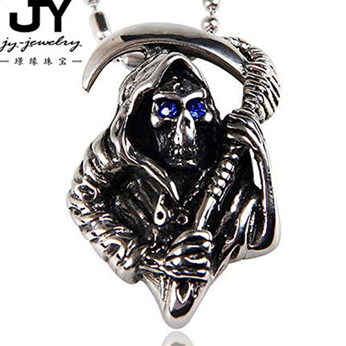 Steel Metal Pendant   Carved Skull Head Pendant for Party 25X37mm