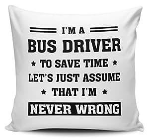 I 'm un conductor de autobús a ahorrar tiempo permite Just asumir que Im nunca mal cojín con interior/dípticas