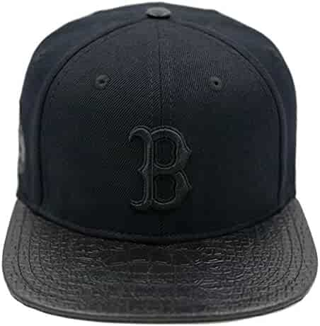 ac12a94cb13 Pro Standard Men s MLB Boston Red Sox Black Out Buckleback Hat Black W Pins
