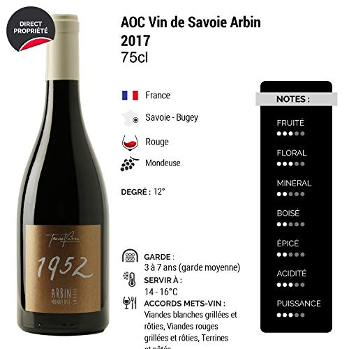 Vin-de-Savoie-Arbin-Mondeuse-1952-Rouge-2017-Fabien-Trosset-Vin-AOC-Rouge-de-Savoie-Bugey-Cpage-Mondeuse-Lot-de-12x75cl