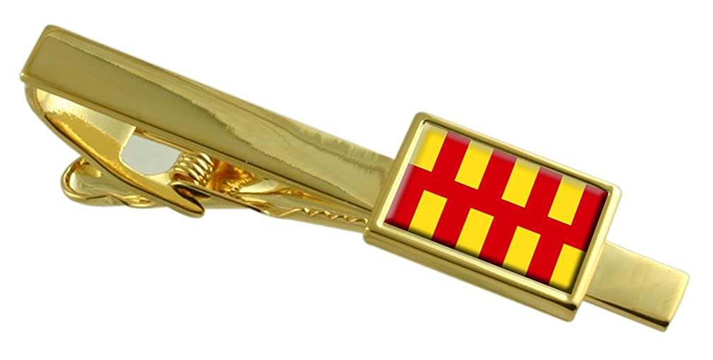 Select Gifts Northumberland County England Flag Gold-Tone Tie Clip