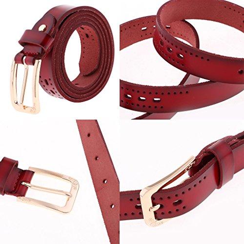Degli Pu Delle Vestito Casuali Vita Uomini Cintura In Donne Jeans Lusso Ci Cinturino Di In Prettyia Fibbia Nera Pelle Dei Fxn4Rw0qP