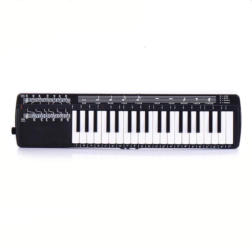 Melodica Instrument-Mouthpiece 37 Key Piano Style Melodica,Melodica Keyboard Suitable for Teaching and Playing,with Carrying Case,Black by KOUPA