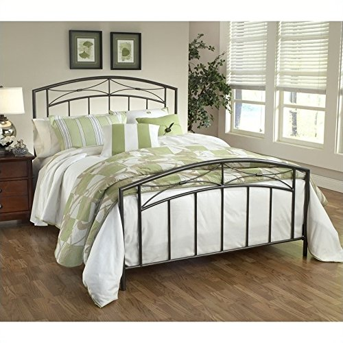 Hillsdale Furniture 1545BQR Morris Bed Set with with Rails, Queen, Magnesium Pewter
