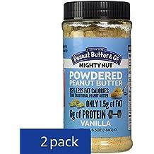 Peanut Butter & Co. Mighty Nut Powdered Peanut Butter, Non-GMO, Gluten Free, Vegan, Vanilla, 6.5 Ounce Jars (Pack of 2)
