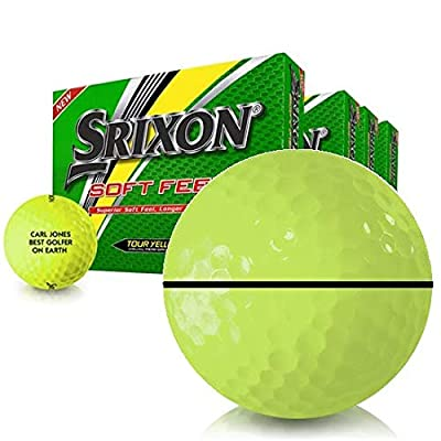 Srixon Soft Feel Yellow AlignXL Personalized Golf Balls - Buy 3 Get 1 Free