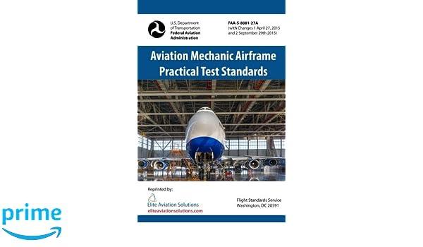 Aviation Mechanic Airframe Practical Test Standards FAA-S