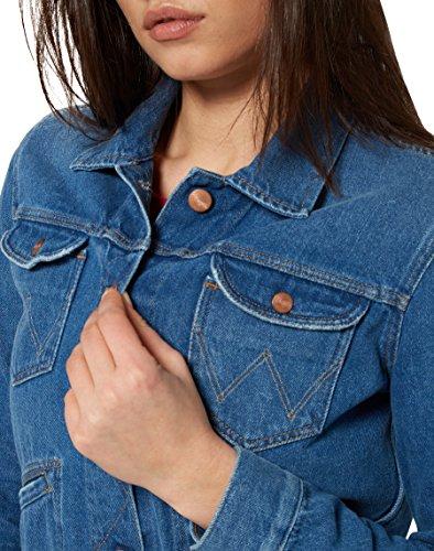 Cropped Vibes Veste Femme Bleu 9w Jacket Retro Wrangler Jean gARn7x00