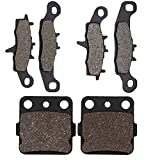 Cyleto Front and Rear Brake Pads for Kawasaki KFX 450R KFX450R KSF450 2008 2009 2010 2011 2012 2013 2014