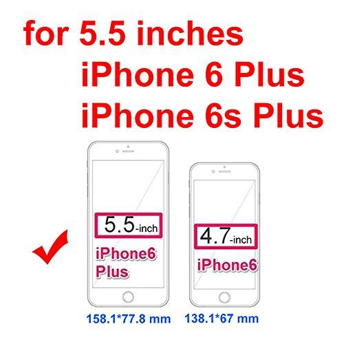 iPhone 6Plus/iPhone 6S Plus Fall, urvoix (TM) Premium Leder Reißverschluss Wallet Multifunktionale Handtasche abnehmbarer Magnetic Schutzhülle mit Flip Card Holder Cover für iPhone 6Plus/6S Plus (14