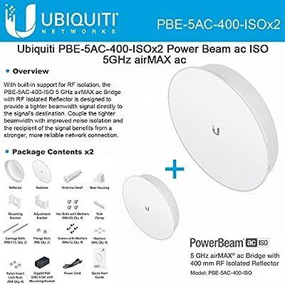 Ubiquiti PowerBeam AC ISO 5GHz 25dBi 400mm PBE-5AC-400-ISO RF Isolated (2PACK)