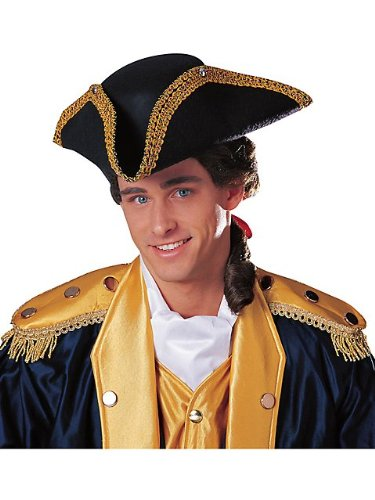[Tricorn Hat Adult Costume Accessory] (Adult Colonial Tricorn Hat)