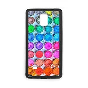 Diy Watercolor Palette Phone Case for samsung galaxy note 4 Black Shell Phone JFLIFE(TM) [Pattern-2] Kimberly Kurzendoerfer