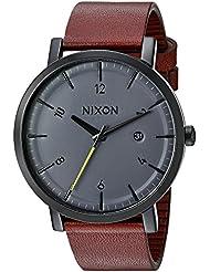 Nixon Mens A945017 Rollo Analog Display Japanese Quartz Brown Watch