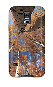 Hot Design Premium OUzWcKI7509XodvS Tpu Case Cover Galaxy S5 Protection Case(view From Below Aspen Grove Colorado Trees Blue Sky Forest Nature Other)
