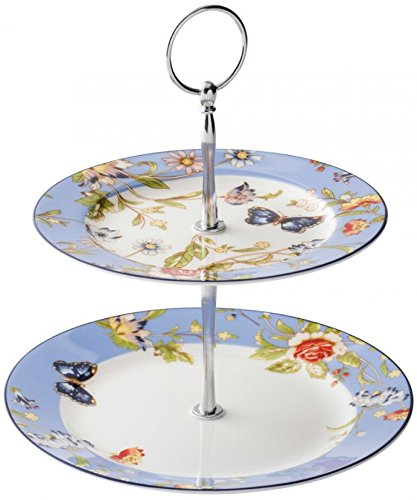 Aynsley Cottage Garden Two Tiered Cake Stand
